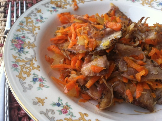 Duck Confit with Carrots and Onions_NPF