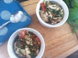 Chopped Basil, Tomato and ChickenSalad